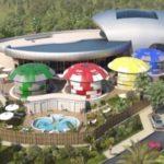 Vue aérienne du casino pleinair de la ciotat