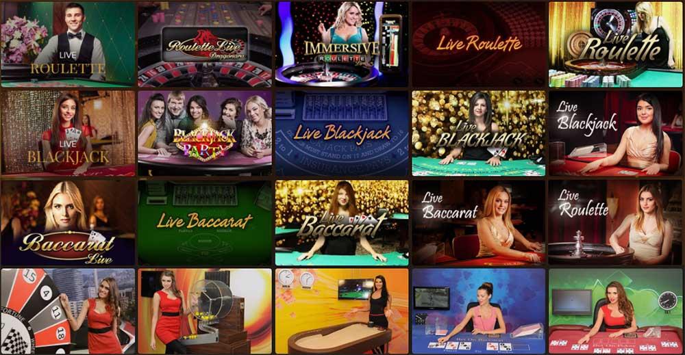 CasinoExtra propose de nombreux jeux dont des jeux live avec croupiers en direct