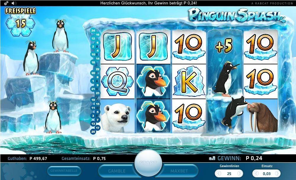 Pingouin-splash slot