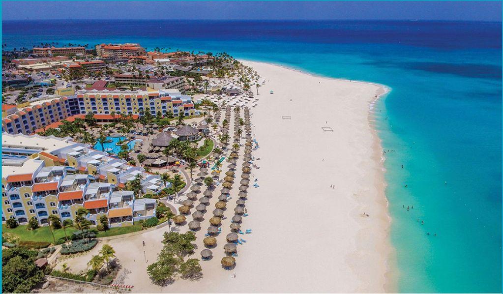 aruba plage de sable fin, mer turquoise et jeux d'argent !